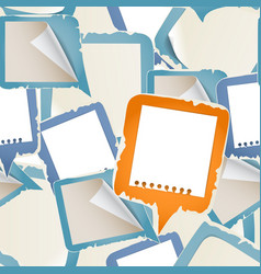 Paper text bubbles seamless background vector image vector image
