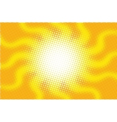 Retro sun with rays pop art vector image vector image