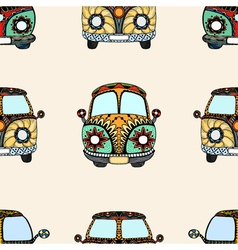 Seamless Pattern of Vintage car vector image vector image