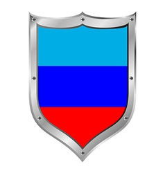 Shield with flag of lugansk vector