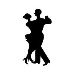 Silhouette of dancing couple vector image vector image