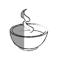 tea cup japanese culture icon vector image