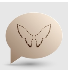 Wings sign  brown gradient icon on vector
