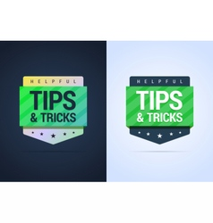 Tips and tricks banners vector