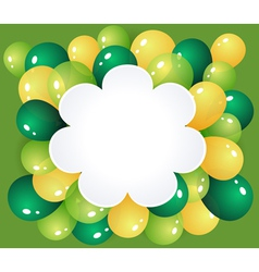 Flower frame with balloons vector