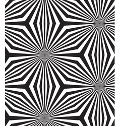 Black and white op art design seamless pattern vector
