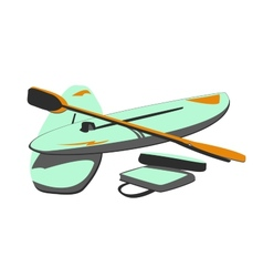 Isolated water sport baords  paddles vector