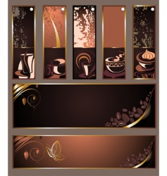 set of coffee tea banners vector image