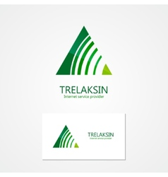 Combination of a triangle and signal with business vector image