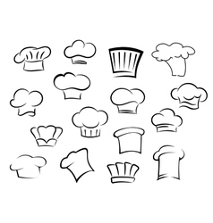 Chef hats or caps for kitchen staff vector