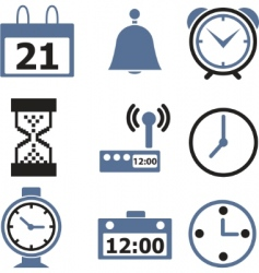 Time signs vector