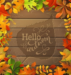 Hello autumn vector
