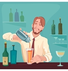 Barman for cocktail party vector