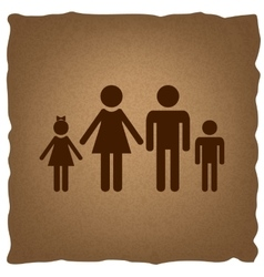 Family sign vintage effect vector