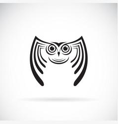 an owl design on white background bird wild vector image vector image