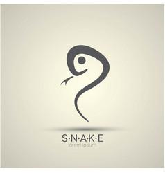 Angry dangerous snake logo design vector