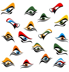 Background of abstract eye vector image vector image