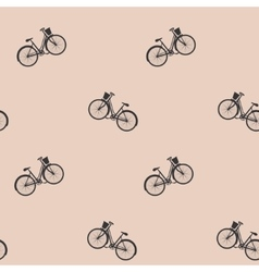 Bicycles seamless background vector