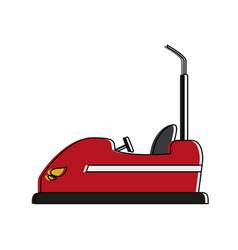 Bumper cars icon image vector