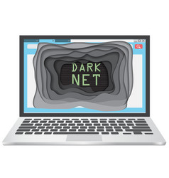 Dark web concept vector