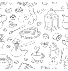 Doodle pattern coffee vector image