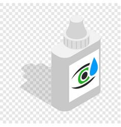 Eye drops isometric icon vector