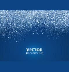 falling glitter confetti snow dust vector image vector image