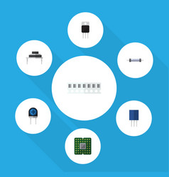 flat icon technology set of memory unit vector image