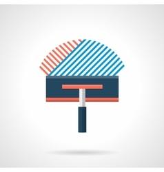 Flat style concrete floor insulation icon vector