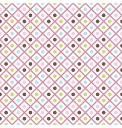 Funny abstract geometric bright seamless pattern vector image vector image