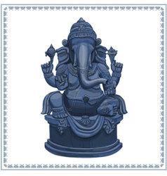 Ganesh statue vector