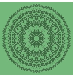 Green ornamental seamless line pattern vector