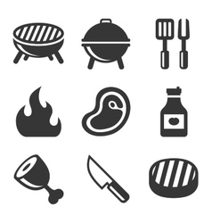 Grill and Barbecue Icons Set vector image vector image