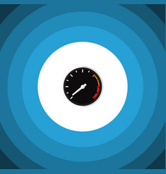 Isolated speedometer flat icon tachometr vector
