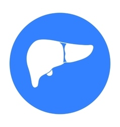 Liver icon in black style isolated on white vector image vector image
