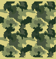 military seamless pattern camouflage background vector image