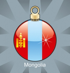 Mongolia flag on bulb vector image vector image