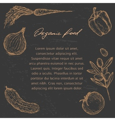 Organic food template vector