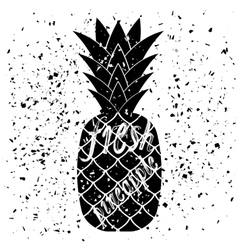 Pineapple Icon Typography Design vector image vector image