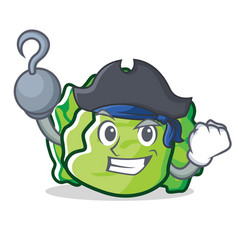 Pirate lettuce character cartoon style vector