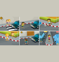 Road rules vector image