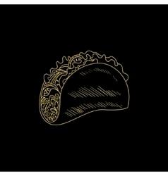 Taco Hand Drawn Sketch vector image