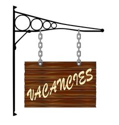 Vacancies hanging sign vector
