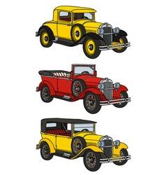 Vintage cars vector