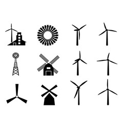 windmill icons vector image vector image
