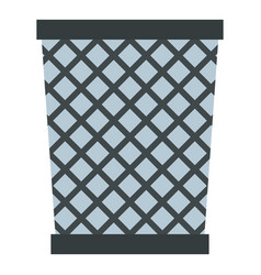 Wire metal bin icon isolated vector