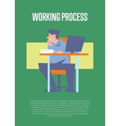 Working process banner with bewildered employee vector image