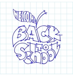 Back to school ink lettering inscribed in the vector