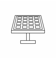 Solar panel icon outline style vector
