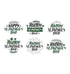 happy st patricks day lettering typography vector image